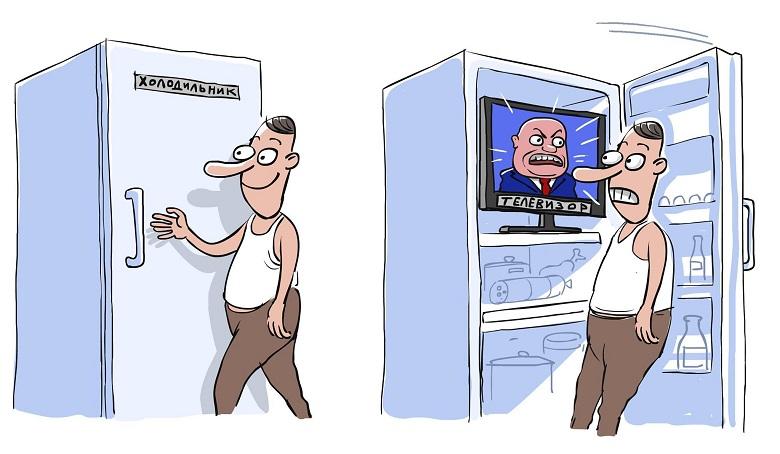 Холодильник и телевизор