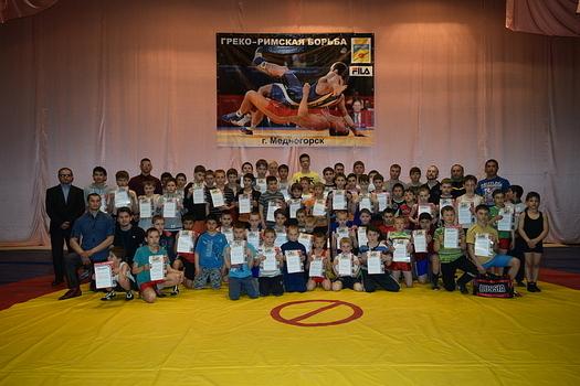 В Медногорске прошли соревнования по греко-римской борьбе