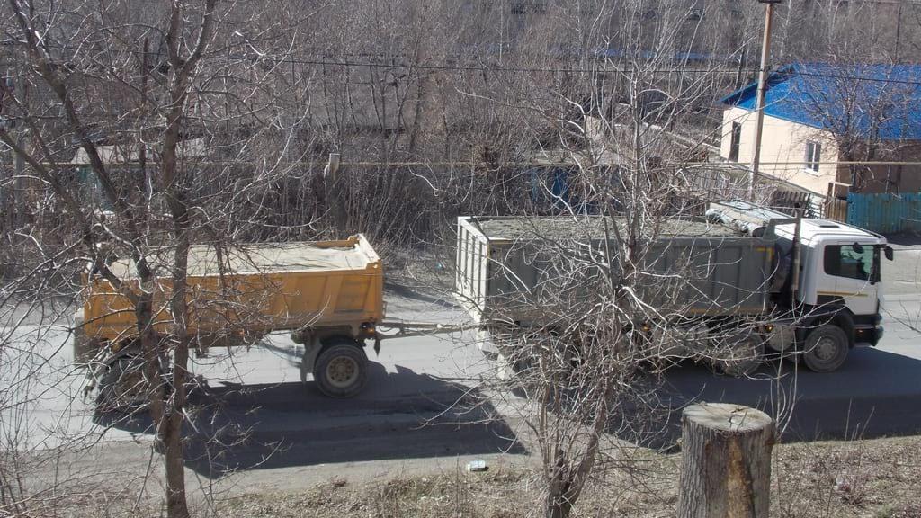Нарушения перевозок щебня в Медногорске